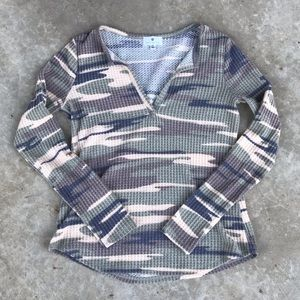 Camouflage long sleeve thermal